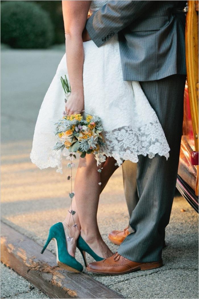 Chaussures de mariage romantique