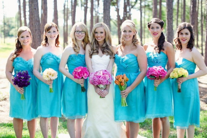 Robes turquoise pour mariage