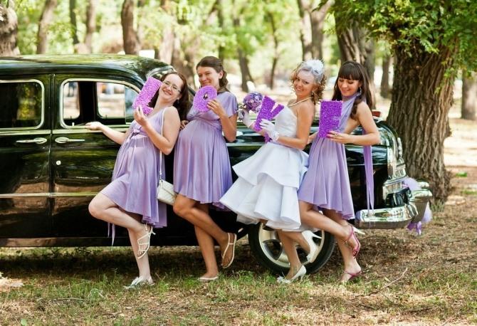 robes lilas pour temoin de mariage